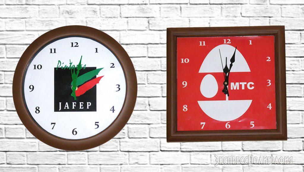 Изготовление часов с логотипом
